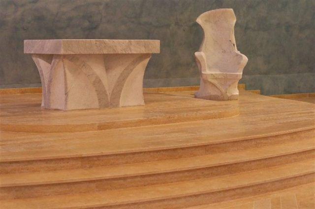 Presbiterio in Pietra di Gerusalemme Gold