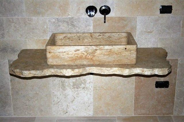 kamniti umivalniki kot nastavki na podporo