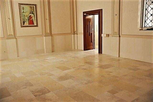 Marble floor Jerusalem stone church