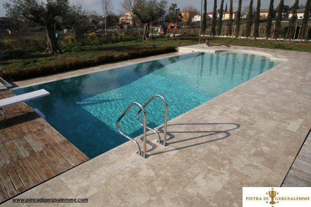 Rivestimento in pietra di Gerusalemme per piscine